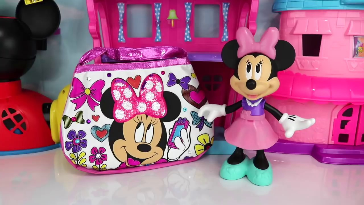 Get Ready With Minnie Mouse Sequin Color N Style Purse Laptop Toothbrush Playset