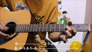 Gulaabi Aankhein - Atif Aslam - Leads / Chords - Guitar cover lesson chords beginners