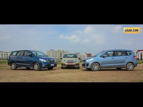 Honda Mobilio Vs Maruti Ertiga Vs Toyota Innova Youtube