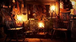 Ambience/ASMR: Victorian Cottage Hearth at Night (Fireplace/Wood-Burning Stove), 5 Hours