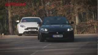 Aston Martin V8 Vantage vs Jaguar XKR-S - autocar.co.uk