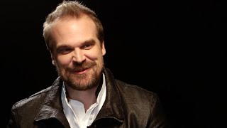 David Harbour scares the 'Stranger Things' kids
