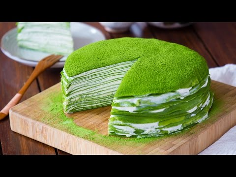 [Eng Sub] 抹茶千层蛋糕 Matcha mille crepe cake【曼食慢语第92集】