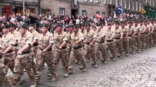 3 Rifles & 1 Scots marching down Royal Mile.mpg