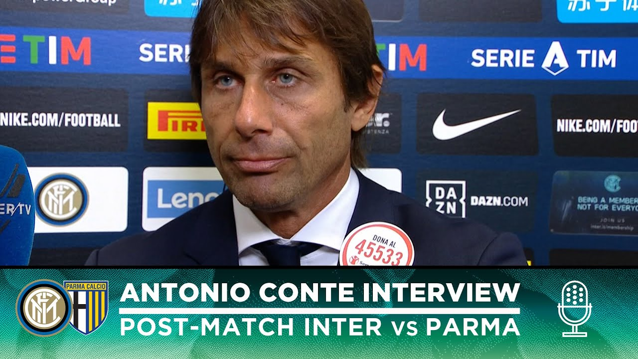 Coperta Dell Inter.Inter 2 2 Parma Antonio Conte Interview We Would Have Merited A Victory Sub Eng
