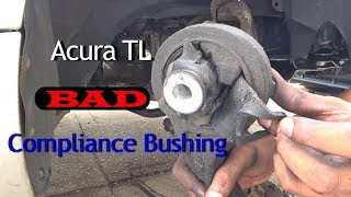 How to Remove Acura TL lower contol arm. Knuckle, tierod ends.