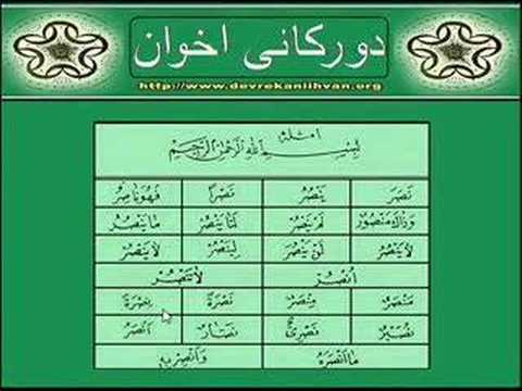 arapca öğreniyorum emsile 3. bölüm