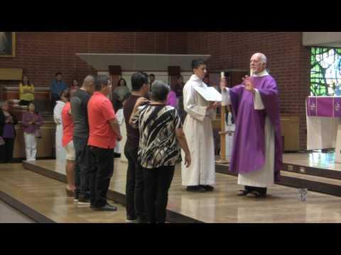 Tercer y final rito de Escrutinio para los catecúmenos