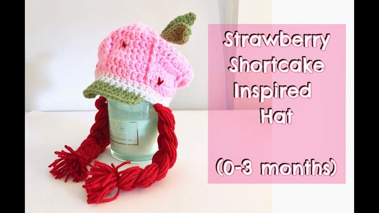 Strawberry Shortcake Cartoon Inspired Hat 0 3 Months Youtube