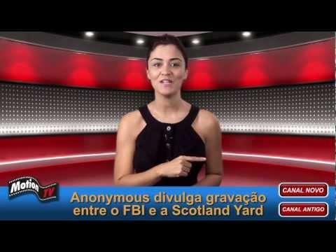 Anonymous divulga gravação entre FBI e Scotland Yard.