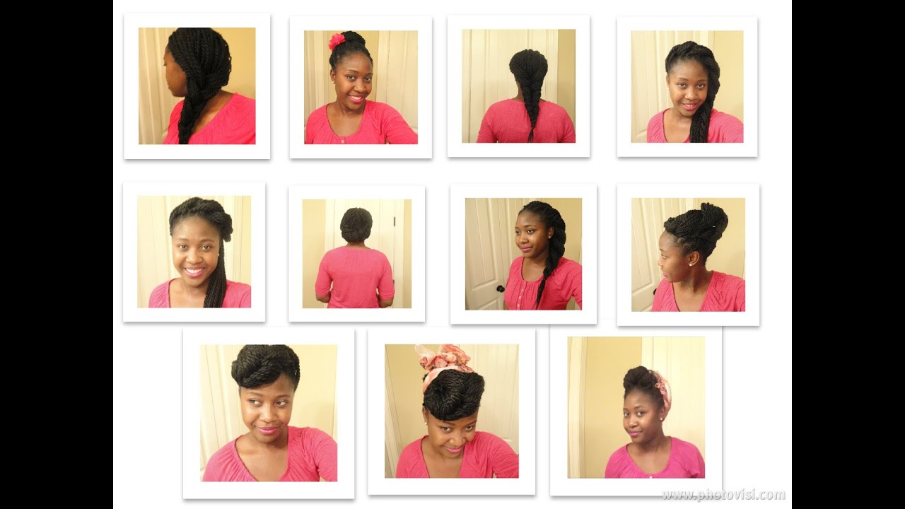 Senegalese Twist Styles - YouTube