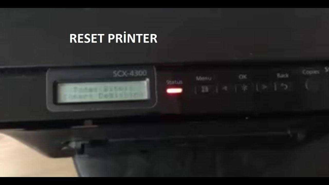 Reset Samsung Scx 4300 Samsung Scx 4300 Toner Reset Youtube