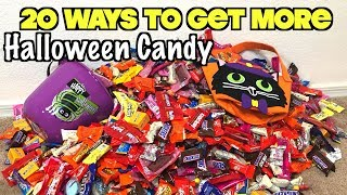 20 Smart Ways To Get The Most Halloween Candy When You Go Trick or Treating This Year | Nextraker
