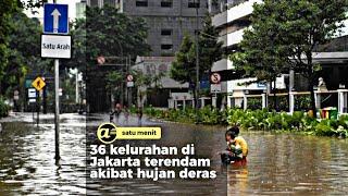 36 kelurahan di Jakarta terendam banjir