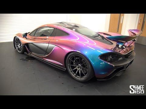 McLaren P1 in Unique MSO 'Pacific Blue' Pearlescent Paint