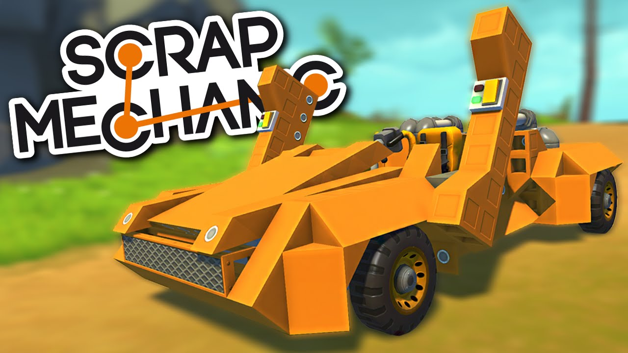 Scrap Mechanic Creations Lamborghini Sports Car With