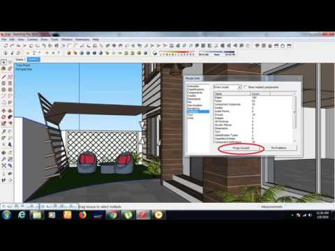 How To Purge Items In Google Sketchup Youtube