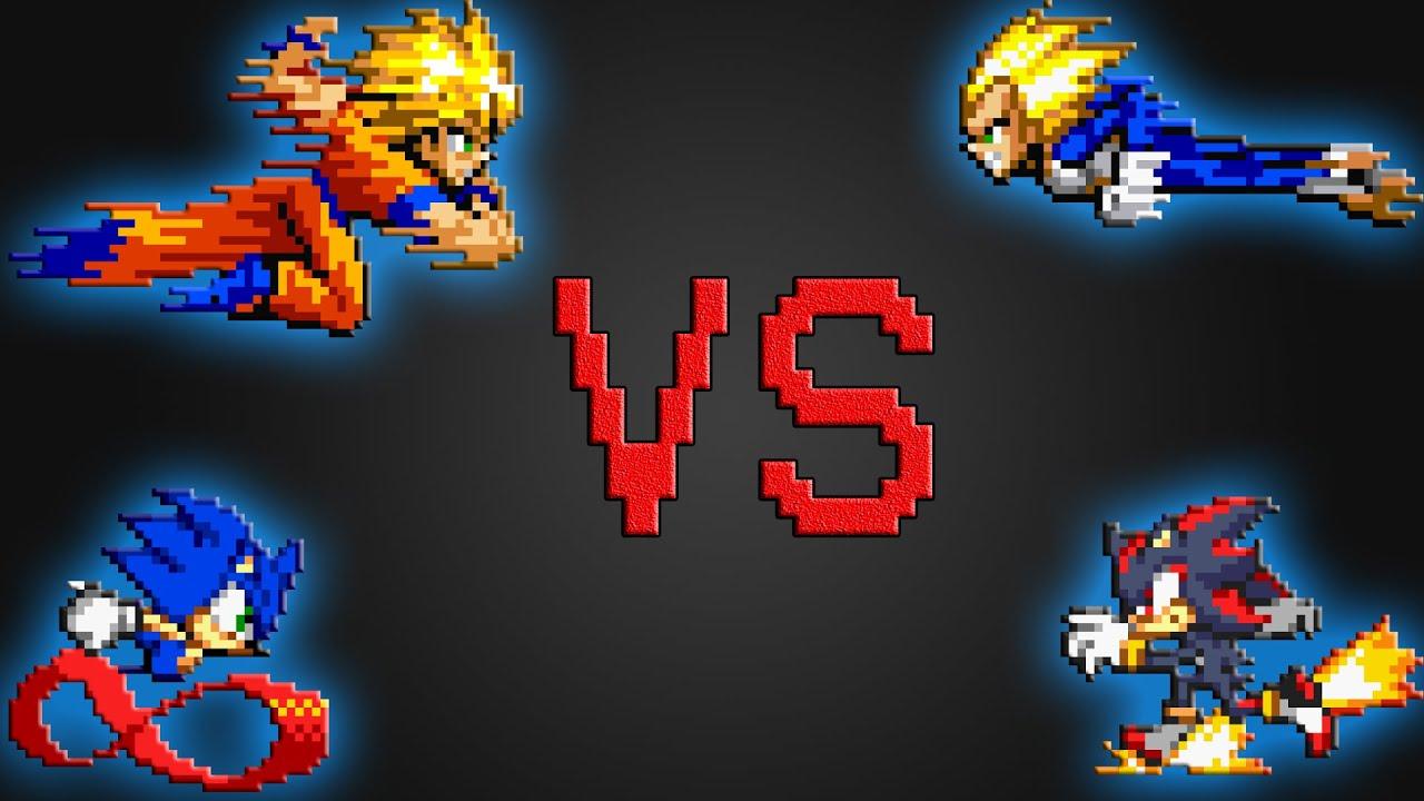 Sonic  Goku VS Shadow  Vegeta Pt 2  YouTube