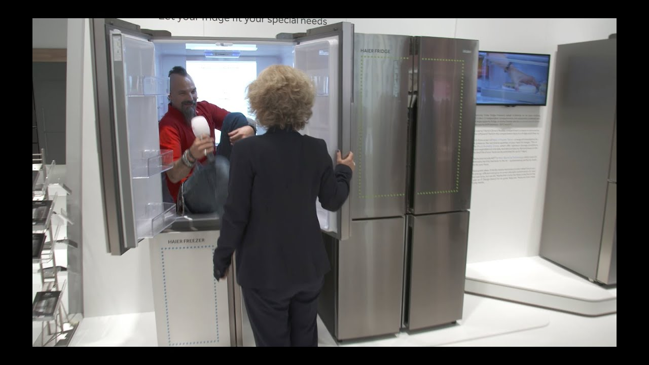 cooler side by side k hlschrank duo waschmaschine highlights haier mediamarkt ifa 2016. Black Bedroom Furniture Sets. Home Design Ideas