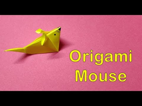 DIY : Easy Origami | Make a Paper Mouse Step by Step | Paper Folding #tuesdaycraft #kidscraft