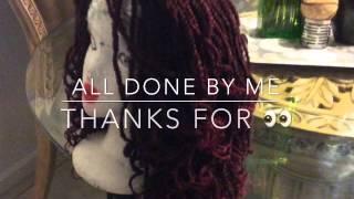 Soul twist hair crochet wig