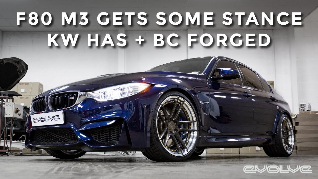 F80 M3 Stance Upgrade Kw Has Kit And Bc Forged Wheels Youtube