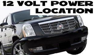 2007-2014 Cadillac Escalade 12 volt ignition power source location