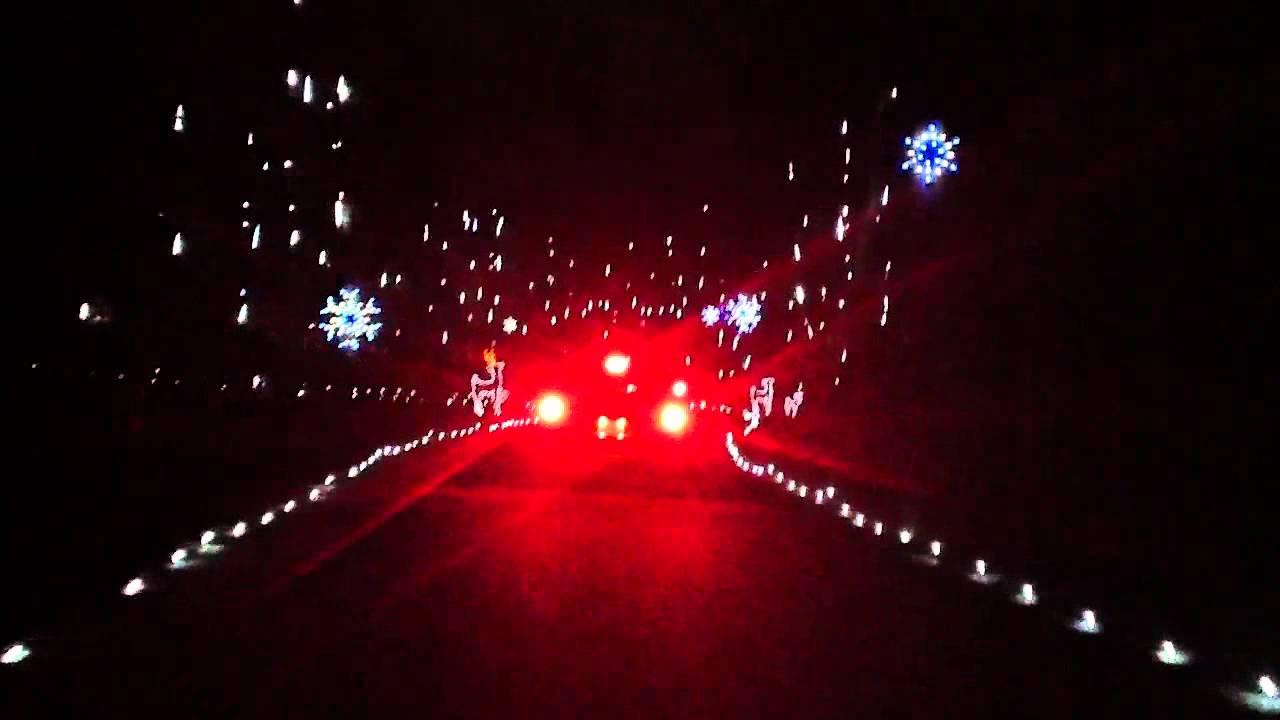 Christmas Run Park.Christmas Lights Bull Run Regional Park