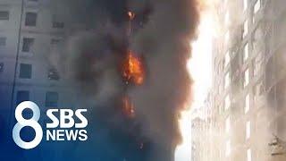 서울 목동 학원건물 큰 불…학생 등 300여 명 급히 …