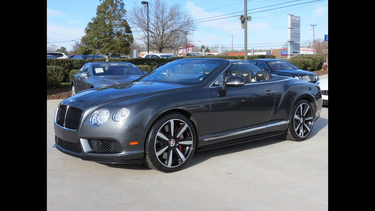 2014 bentley continental gtc v8 start up exhaust and in depth review youtube