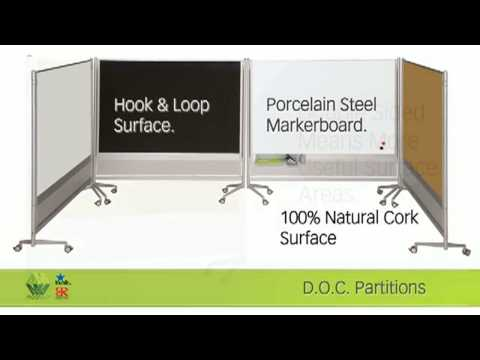 best-rite-d.o.c.-mobile-double-sided-marker-board-divider,-72-x-72,-silver