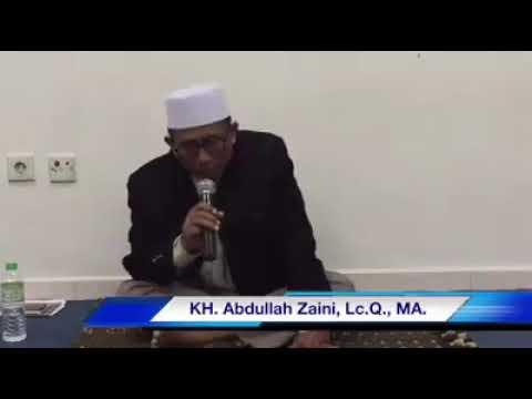 Suara emas K.H. Abdullah Zaini.