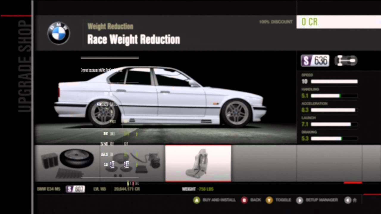 Forza Motorsport 4 Tuning A 1995 Bmw M5 To Drift Youtube