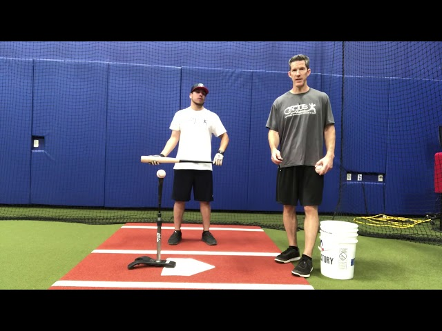 Batting Tee Lunge Drill