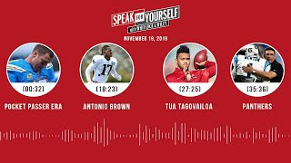 Antonio Brown, Panthers, LeBron James, Philip Rivers | SPEAK FOR YOURSELF Audio Podcast