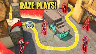Valorant: What 2000 Hoขrs of Creative RAZE Plays Looks like...