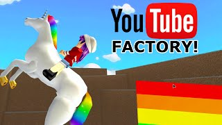 ROBLOX LET'S PLAY YOUTUBE FACTORY TYCOON PT1 | RADIOJH GAMES