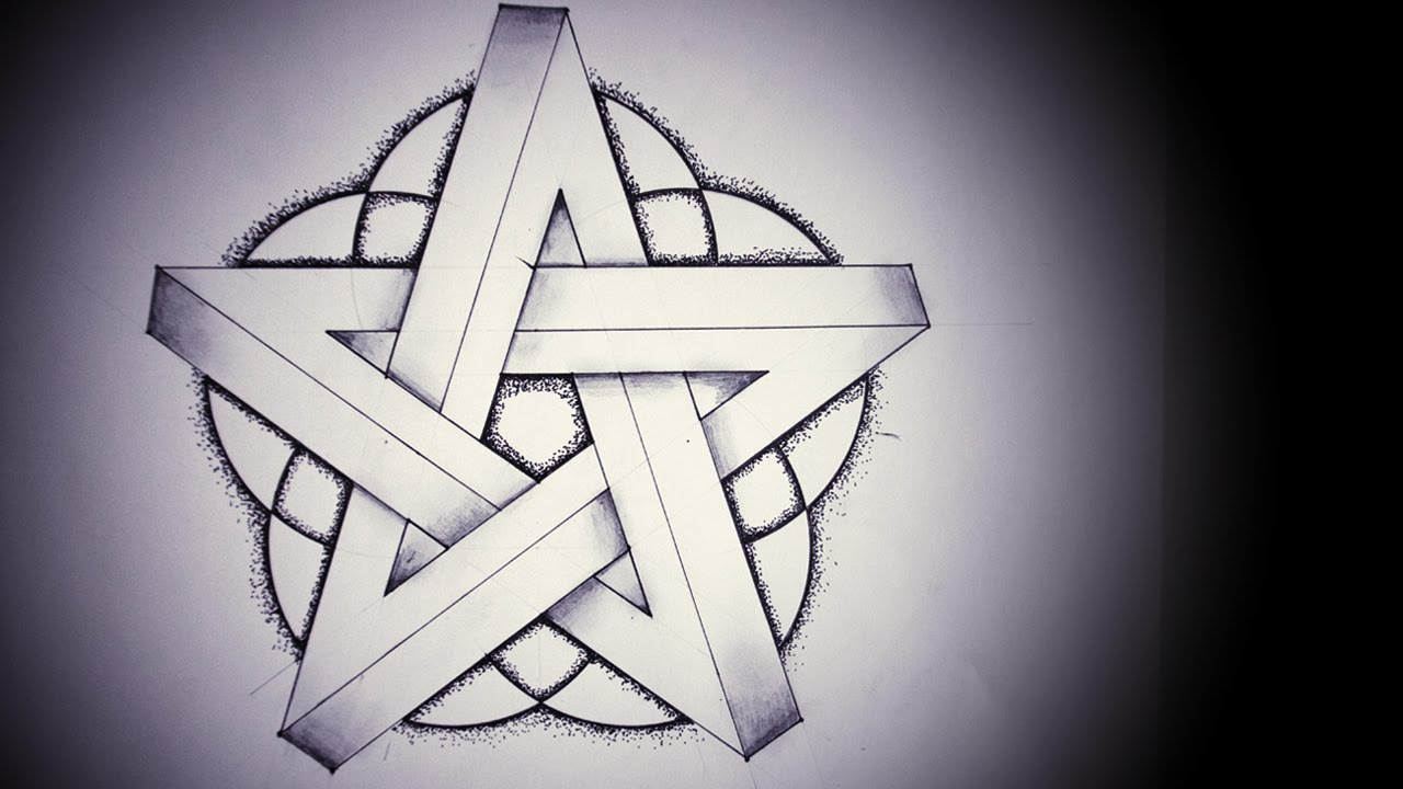 How to Draw an Impossible Pentagram - YouTube