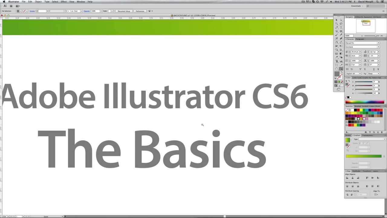 A beginners guide to Adobe Illustrator CS6 - The Basics - YouTube