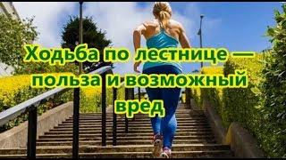 Ходьба по лестнице. Польза ходьбы и возможный вред.