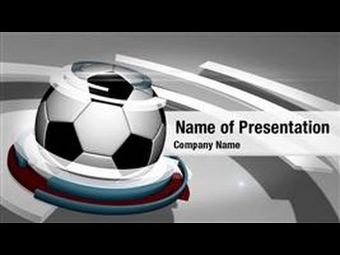 soccer ball powerpoint video template backgrounds, Powerpoint templates