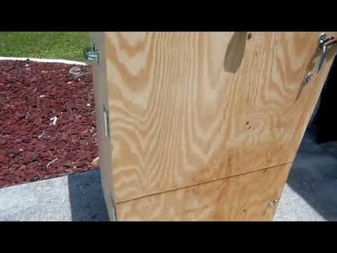 Homemade Wooden Beef Jerkey Smoker Box Part 5 - DIY How to build a food smoker