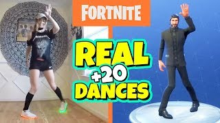 + 20 FORTNITE DANCES IN REAL LIFE | DANCES IN REAL LIFE