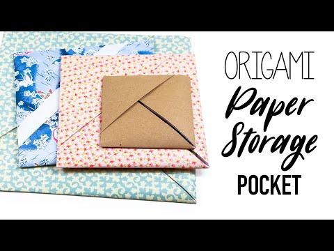 Origami Paper Storage Pocket ♥︎ Tutorial ♥︎ DIY ♥︎