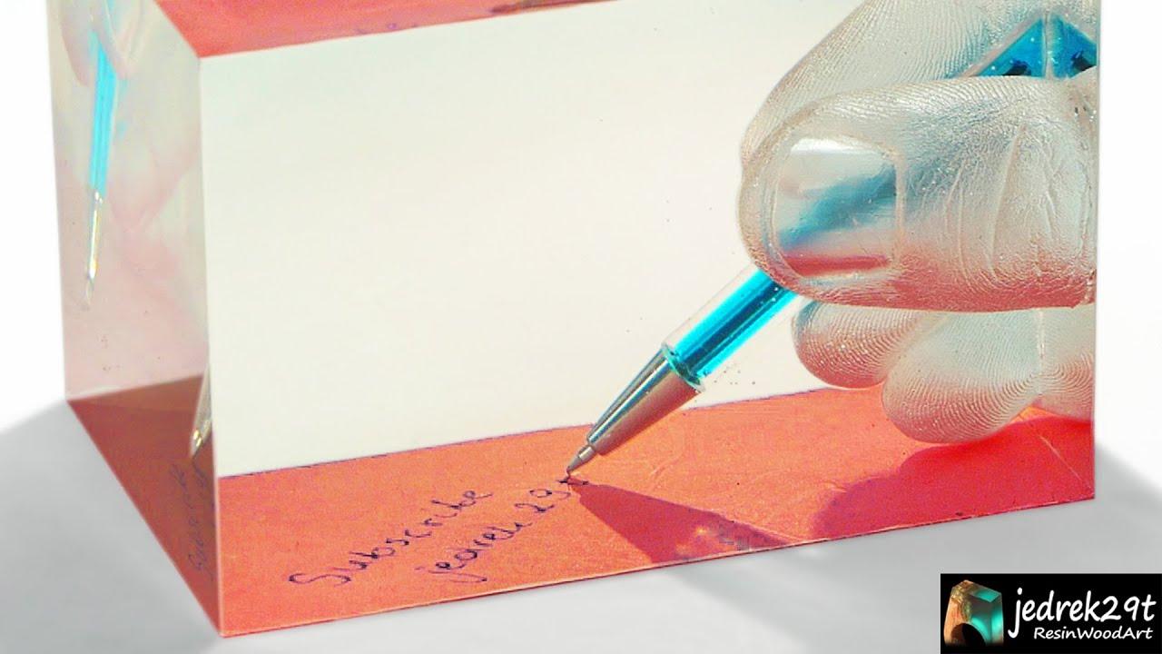 Writing in Epoxy Resin / RESIN ART