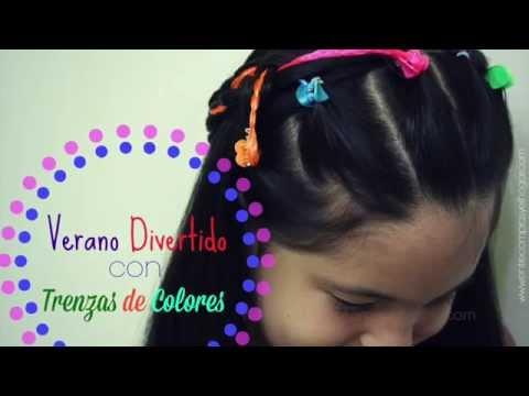 Peinado Divertido con Trenzas de Colores