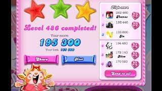 Candy Crush Saga Level 486  ★★★ 3 STAR - NO BOOSTER