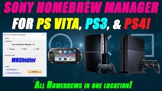 Sony Homebrew Manager! Get PS Vita, PS TV, PS3 & PS4 Homebrews IN ONE LOCATION!