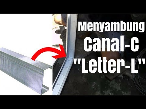 gambar baja ringan kanal c cara menyambung canal dengan posisi letter l youtube