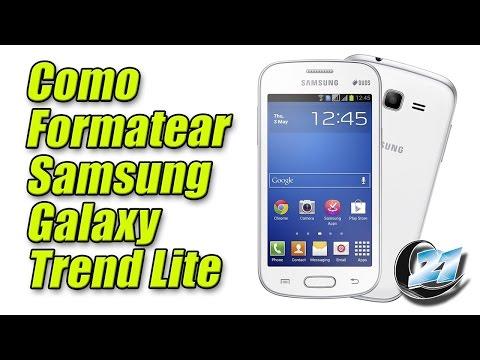 Como formatear Samsung Galaxy Trend Lite.